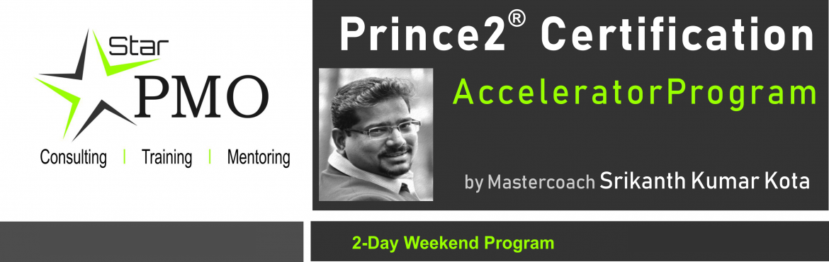 Book Online Tickets for StarPMO Prince2 Certification Accelerato, Pune. StarPMO has announce dates for its flagship Prince2 Certification Accelerator Program.  Workshop Dates: 10th, 11th August 2019 Location: B-4, Sukhwani Park, North Main Road, Koregaon Park, Pune  \'Limited Number of Seats' only Registration