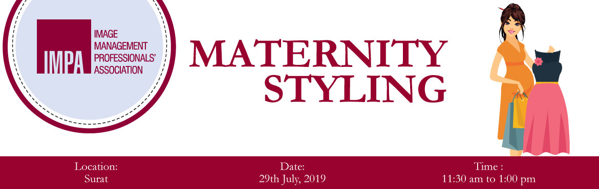 Book Online Tickets for MATERNITY STYLING , Surat. ABOUT YAMINI SHARMAYamini Sharma has years of experience in maternity wear and styling and has conducted several sessions on maternity styling. She works with maternity homes like P101 Pregnancy Wellness Center and Dr. Keta Shah's Center for Ma