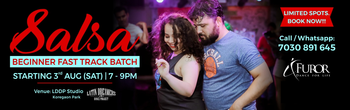 Book Online Tickets for Salsa Beginner Fast Track Batch | 3rd Au, Pune.  Finally your wait is over!  Introducing a Special Salsa Fast track Batch for Beginners. Designed for both non-dancers and dancer, this batch will cover Salsa Basic Footwork, Partnerwork and turn patterns.   Salsa is a worldwide popular partner