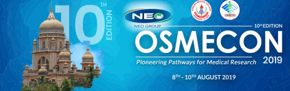Book Online Tickets for OSMECON 2019 - Sponsored by Neo MBBS , Hyderabad. OSMECON is an undergraduate medical conference which provides a scaffold for students to sharpen their skills. With its combination of learning opportunities and a platform to present their own work and research, the conference has a student base tha