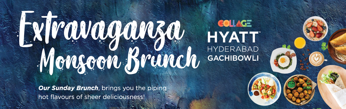 Book Online Tickets for Monsoon Brunch Extravaganza at Hyatt, Hyderabad. Welcome to a world of flavors with lots of live stations, delectable food and a variety of cocktails/mocktails.  Enjoy live stations and lots of fun filled activities. Free access to pool, kids station and play area and many more in our Monsoon