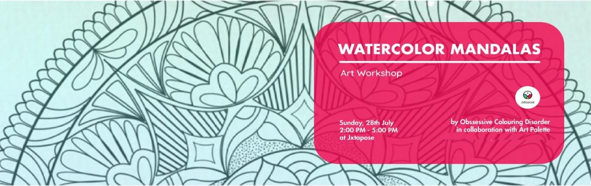 Book Online Tickets for WATERCOLOR MANDALAS, Hyderabad. WATERCOLOR MANDALAS By Obsessive Colouring Disorder and Art Palette.  All materials will be inclusive of the workshop. This workshop introduces the fusion of two popular fine art methods: Mandalas and Watercolors. It sheds light on differ