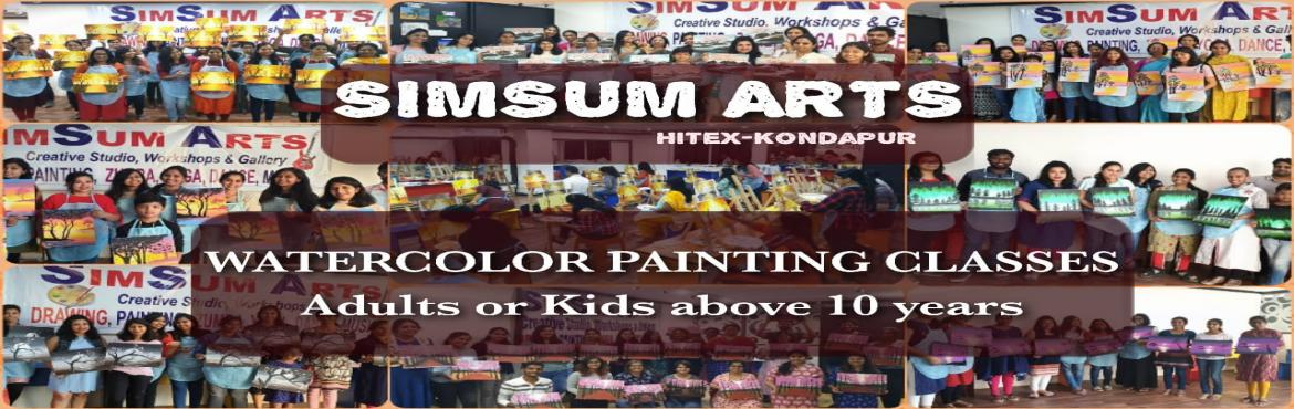Book Online Tickets for Water Colors Painting Classes, Hyderabad. SimSum Arts Gallery and Studio conducts Water Colors Painting Classes.  Register and learn different techniques of water colors painting including color shadings, brush strokes, detailing, and many more.Easy step-by-step guidance from basics whe