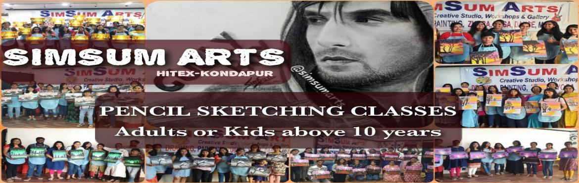 Book Online Tickets for Pencil Sketching Classes, Hyderabad. SimSum Arts Gallery and Studio conducts Pencil Sketching Classes. Register and learn different techniques of pencil sketching including pencil shadings, smudging, detailing, and many more. Easy step-by-step guidance from basics where even a beg