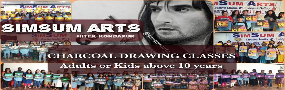 Book Online Tickets for Charcoal Drawing Classes, Hyderabad. SimSum Arts Gallery and Studio conducts Charcoal Drawing Classes.  Register and learn to use charcoal as a medium to draw as well as different techniques of charcoal drawing including charcoal shadings, smudging, detailing, and many more. Easy s