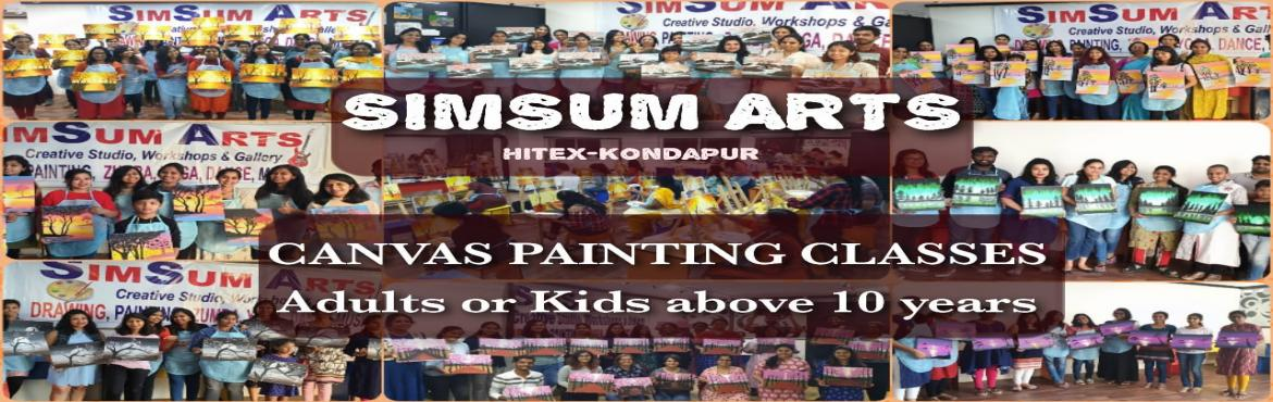 Book Online Tickets for Canvas Painting Classes, Hyderabad. SimSum Arts Gallery and Studio conducts Canvas Painting Classes. Register and learn different techniques of painting on canvas boards including color shadings, brush stokes, detailing, and many more. Easy step-by-step guidance from basics where