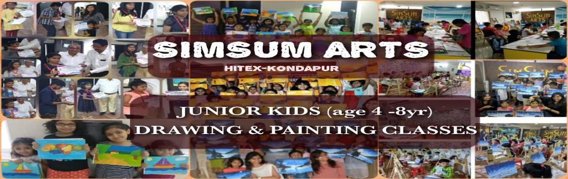 Book Online Tickets for Kids Drawing and Painting Classes - Juni, Hyderabad. SimSum Arts Gallery and Studio conducts Kids Drawing and Painting Classes for kids between 4-8 years of age.  Register your kids and they will be introduced to the world of art at an early age.  They will learn different techniques of drawi