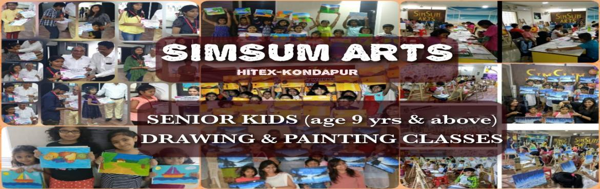 Book Online Tickets for Kids Drawing and Painting Classes - Seni, Hyderabad. SimSum Arts Gallery and Studio conducts Kids Drawing and Painting Classes for kids above 9 years of age. Register your kids and they will be introduced to the world of art at an early age. They will learn different techniques of drawing a