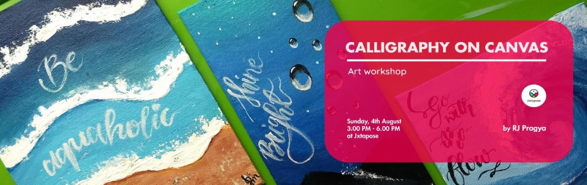 Book Online Tickets for CALLIGRAPHY ON CANVAS, Hyderabad. CALLIGRAPHY ON CANVAS By RJ Pragya. All materials will be inclusive of the workshop. This workshop introduces the fusion of two popular fine art methods: Calligraphy and Painting on a Canvas. It sheds light on techniques to fuse both mediums to achie