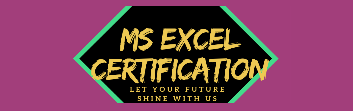 Book Online Tickets for MS Excel Certification, Bengaluru. Hi Learner, On behalf of Cherryskillz Learning Private Limited, we invite you for the MS Excel Certification happening in Bangalore on 20th – 22nd September 2019 (Fri-Sun).This workshop is only for students with OFFER VALID FOR LIMITED PERIOD!I