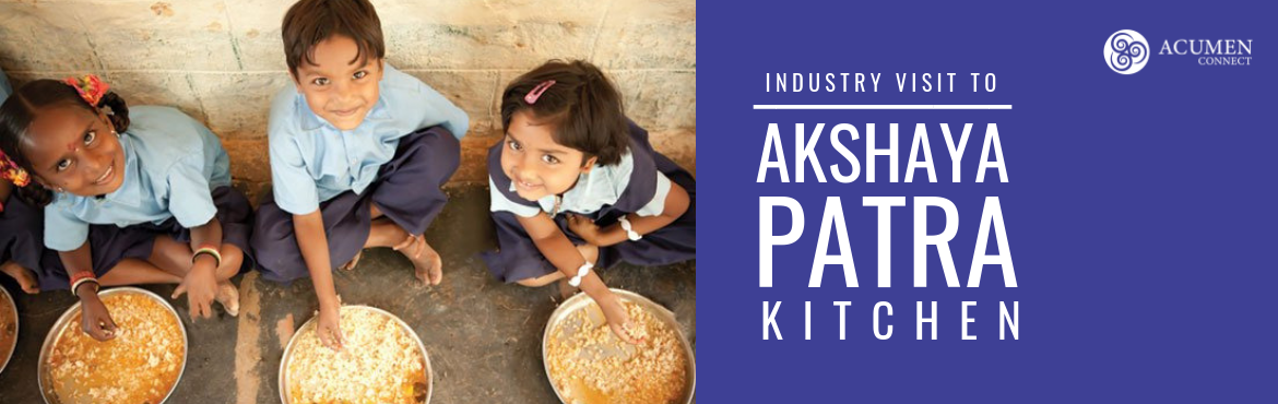 Book Online Tickets for Akshaya Patra Kitchen - Industry Visit, Hyderabad. The Akshaya Patra Foundation is a not-for-profit organisation headquartered in Bengaluru, India. Our organisation strives to eliminate classroom hunger by implementing the Mid-Day Meal Scheme in government schools and government-aided schools. Alongs