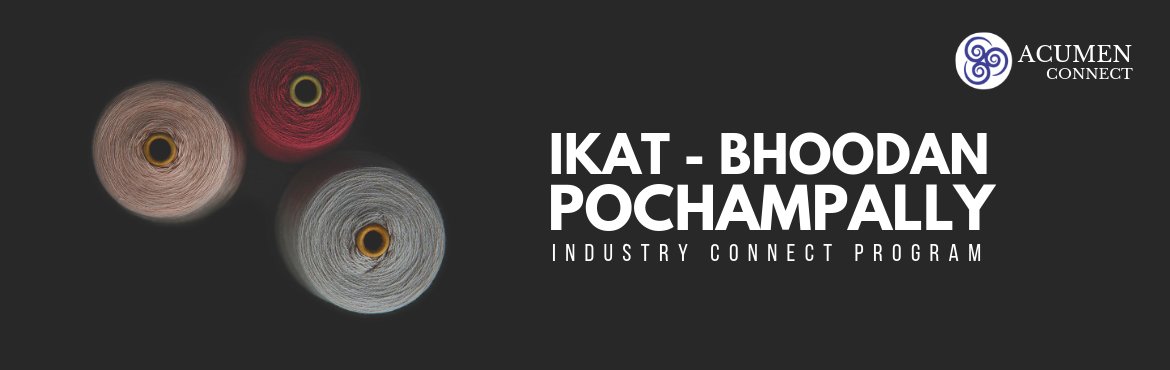 Book Online Tickets for IKAT - Bhoodan Pochampally || Guided Tou, Hyderabad. The beauty of Ikat is unparalleled each and every piece of cloth embodies spirit, skill and history. Revive the age-old traditional art of Ikat which ties together an endless thread heritage.Visit Bhoodan Pochampally & experience the cultur