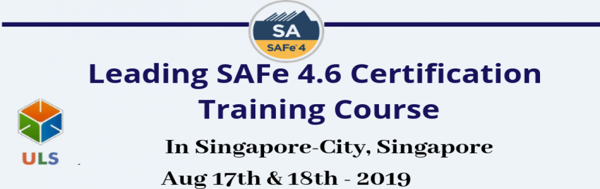 Book Online Tickets for Leading SAFe 4.6 Certification Training , Singapore. Ulearn System's Offer SAFe Agilist 4.6 Certification Training Course Singapore-City, Singapore, Best Leading SAFe Agile Training Institute in Singapore-City, Singapore Enroll for Classroom SAFe Agilist 4.6 Certification Training in Singapore-Ci