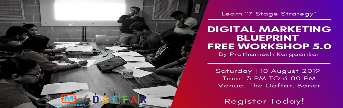 Book Online Tickets for Digital Marketing Blueprint Free Worksho, Pune.  Ever wondered how to implement digital marketing in your business? or still struggling to get something out of your digital marketing activity? Then, We have some good news for you. After running 3 successful startups, 2 in India and 1 in the