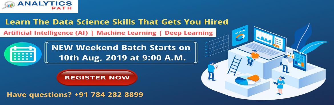 Book Online Tickets for Learn Data Science From IIT And IIM Expe, Hyderabad. Learn Data Science From IIT & IIM Experts. Register For New Weekend Batch On Data Science Training By Analytics Path-10th August, 09:00 AM, Hyderabad About The Event- There is a spectacular rise in the demand for the experts in Data Science acros