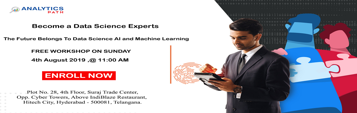 Working towards securing your career in the advanced analytics technology of Data Science Here is the best chance to interact with the qualified domai