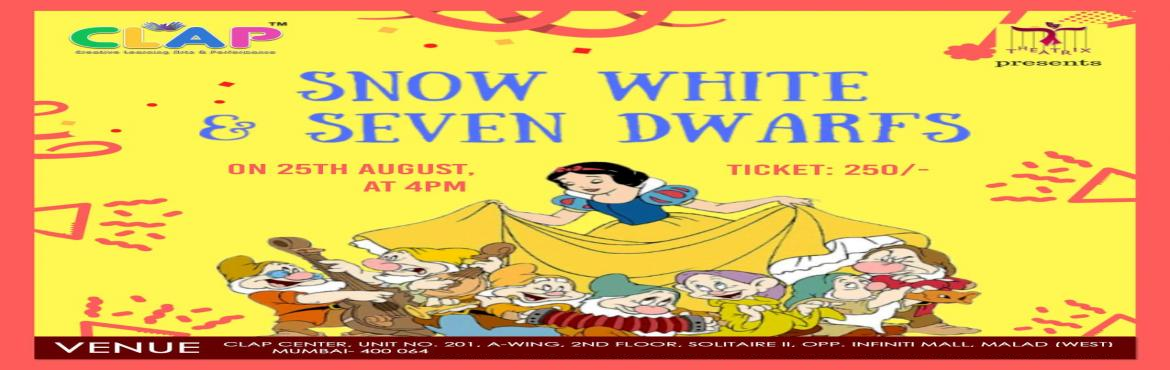 Book Online Tickets for Snow White and Naughty Elves, Mumbai. A MAD SCIENTIST EXPERIMENTS AND CREATES A POTION THRU WHICH HE CAN TIME TRAVEL, IT FAILS, AND HE REACHES IN SNOW WHITE WORLD, A WORLD OF FANTASY. THE MAD SCIENTIST MEETS QUEEN, SNOW WHITE AND ELVES. HE BECOMES PART O F THE STORY AND SAVES SNOW WHITE