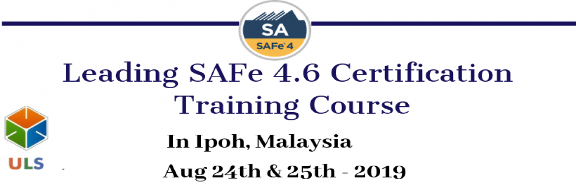 Book Online Tickets for Leading SAFe 4.6 Certification Training , Ipoh. Ulearn System's Offer SAFe Agilist 4.6 Certification Training Course Ipoh, Malaysia, Best Leading SAFe Agile Training Institute in Ipoh, Malaysia Enroll for Classroom SAFe Agilist 4.6 Certification Training in Ipoh, Malaysia from Ulearn Systems