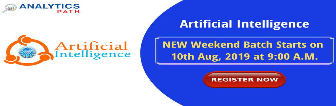 Book Online Tickets for Enroll For Artificial intelligence New W, Hyderabad. Enroll For Artificial intelligence New Weekend Batch & Begin Your Career Journey In AI-By Analytics Path Commencing From 10th August @ 9 AM, Hyderabad. About The Workshop: The domain of Artificial Intelligence has gathered a lot of attentio