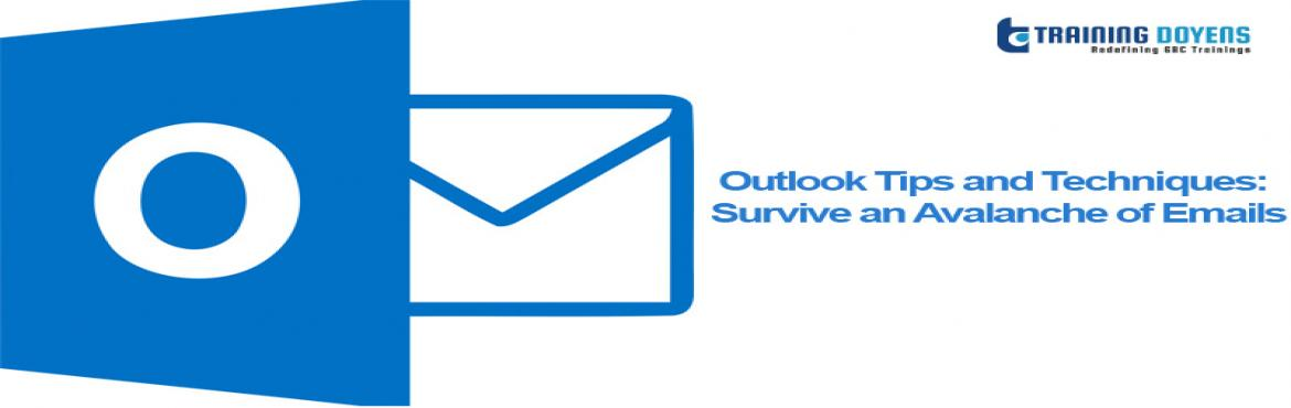 Book Online Tickets for Webinar on Outlook Tips and Techniques: , Aurora. Processing emails is tedious, boring and often mind-numbing yet writing and responding to emails with speed and acumen is pivotal to your success. Our upcoming webinar discusses the techniques for organizing emails entering your Inbox, how to make be