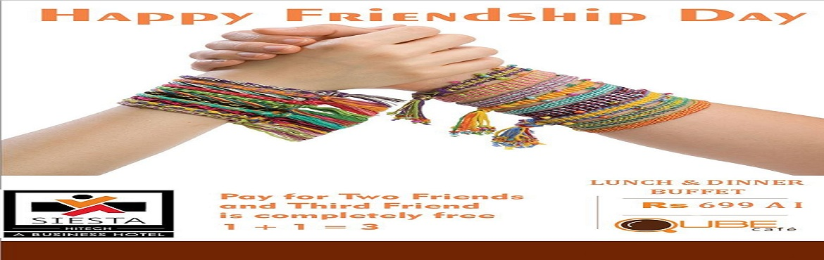 Book Online Tickets for Friendship Day Celebration at Siesta Hit, Hyderabad. It is hard to imagine life without having close friends to share it with. Friends are our constant support system – from sharing the happiest moments to standing beside us in the darkest hours. They know us exactly for who we are and there is n