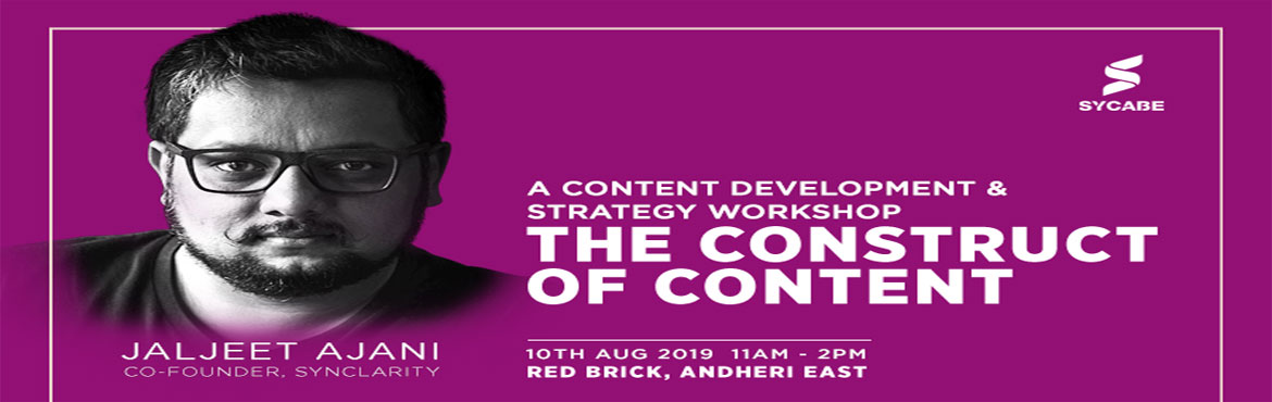 Book Online Tickets for The Construct of Content, Mumbai. Messy content on social media?Unsure about what to post?Can't think of what to write your next blog on?Wait, what's this format of 360-degree videos?And, how do I make my writing style reflect my brand's image?Have such questions ab
