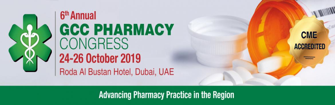 Book Online Tickets for The 6th Annual GCC Pharmacy Congress, Dubai. Healthcare in the GCC region has always aimed to be a pioneer in establishing a sustainable patient-centric Model that follows the highest international standards. Pharmacists are at the forefront of this strategic direction and their vital role in p
