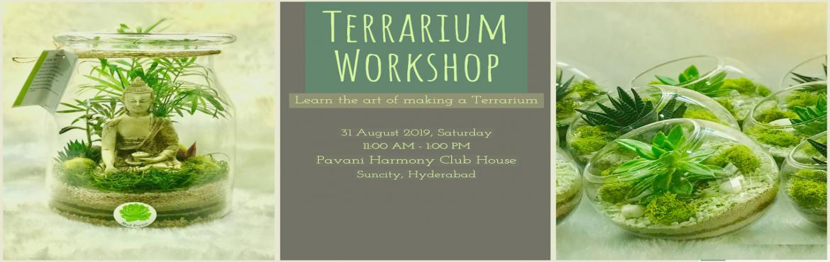 Book Online Tickets for Terrarium DIY Workshop, Hyderabad. WHAT'S THIS ALL ABOUT? Come and join us in a2-hour guided workshopto learn the wonderful art of making your own beautiful terrarium. You'll leave having made your very own miniature, low-maintenance biosphere. At the end of th