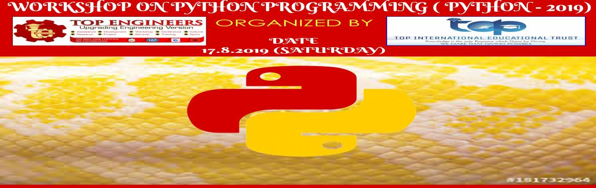 Book Online Tickets for PYTHON PROGRAMMING WORKSHOP ( PYTHON - 2, Chennai.     AGENDA   •             INTRODUCTION TO PYTHON •             COMPARISON WITH OTHER LANGUAGES •