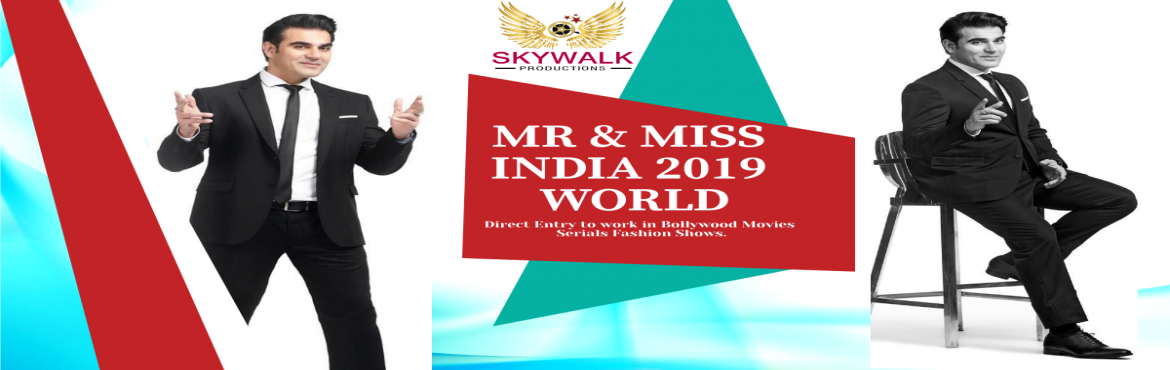 Book Online Tickets for Mr and Miss India Audition , New Delhi.  Mr and Miss India Audition Great news for all young generation Skywalk Productions is going to oraganize India\'s biggest Modeling show Mr and Miss India 2019. This is an International level Platform to enhance your skill and ability in Glamaro