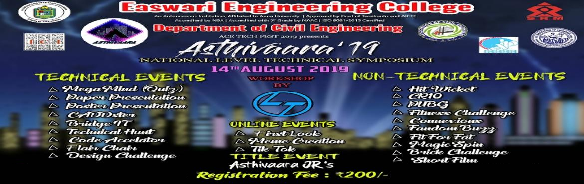 Book Online Tickets for National level technical symposium, Chennai.
