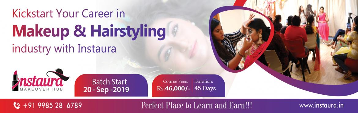 Book Online Tickets for Makeup and Hairstyling Training Classes , Hyderabad. Kickstart Your Career in Makeup & Hairstyling industry with Instaura Make Your Clients Feel SPECIAL WITH INSTAURA MAKEUP Training Classes Welcome to Instaura to polish your makeover skills. Instaura offers comprehensive makeover training classes