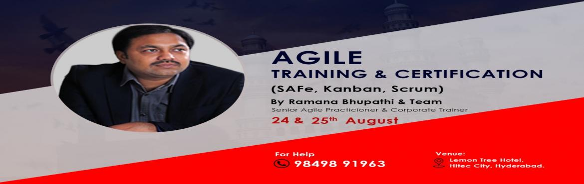 Book Online Tickets for Agile SAFe Two Days WorkShop with Certif, Hyderabad.  Choose Agile Certification(Safe) which works for you & Get opportunities to work on complex Agile Projects.   What Attendees Get ? The Program registration includes: Attendee workbook Preparation and eligibility to take the SAFe&r
