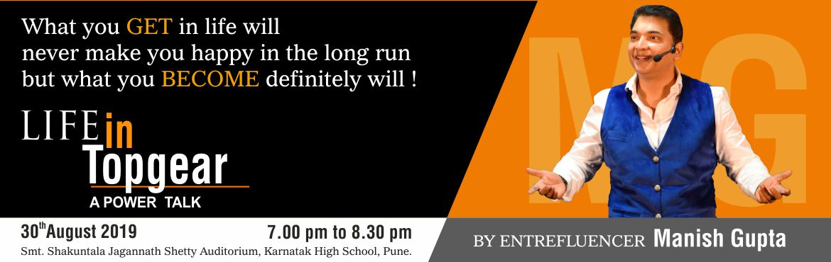 Book Online Tickets for Life in TopGear By Entrefluencer Manish , Pune. \