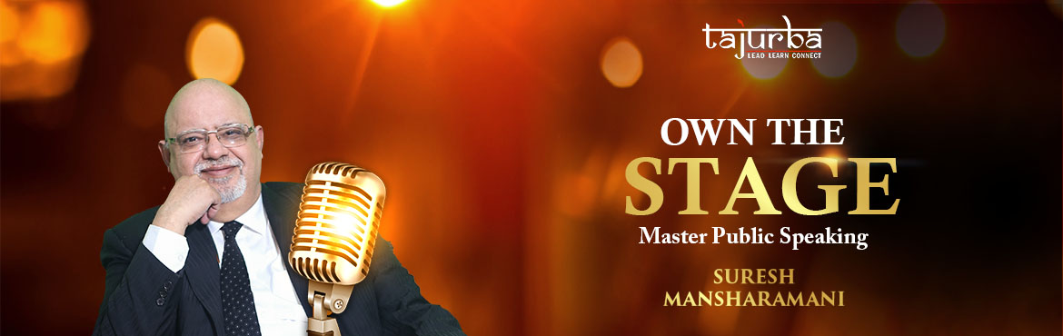 Book Online Tickets for Own the Stage Master Public Speaker, New Delhi.  WHO IS THIS WORKSHOP FOR?  Entrepreneurs Aspiring Entrepreneurs Start-ups Professionals Coaches Trainers  The power of your voice Speaking is the greatest doorway to meet your needs. It's the doorway as a businessman, as a parent, as a c