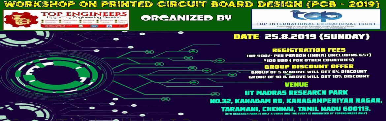PRINTED CIRCUIT BOARD DESIGN WORKSHOP (PCB - 2019)