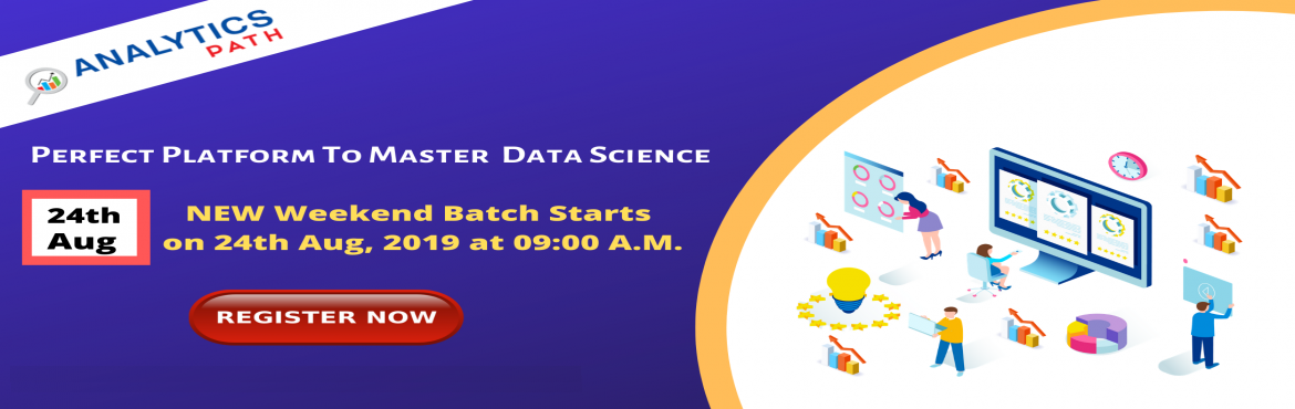 Book Online Tickets for Enroll For Data Science New Weekend Batc, Hyderabad. Enroll For Data Science New Weekend Batch By Analytics Path & Become Expert Data Scientist. Commences From 24th Aug @ 9 am, Hyd About The Event- Data Scientist Demand is growing rapidly in the current IT world enhances the existing career paths w