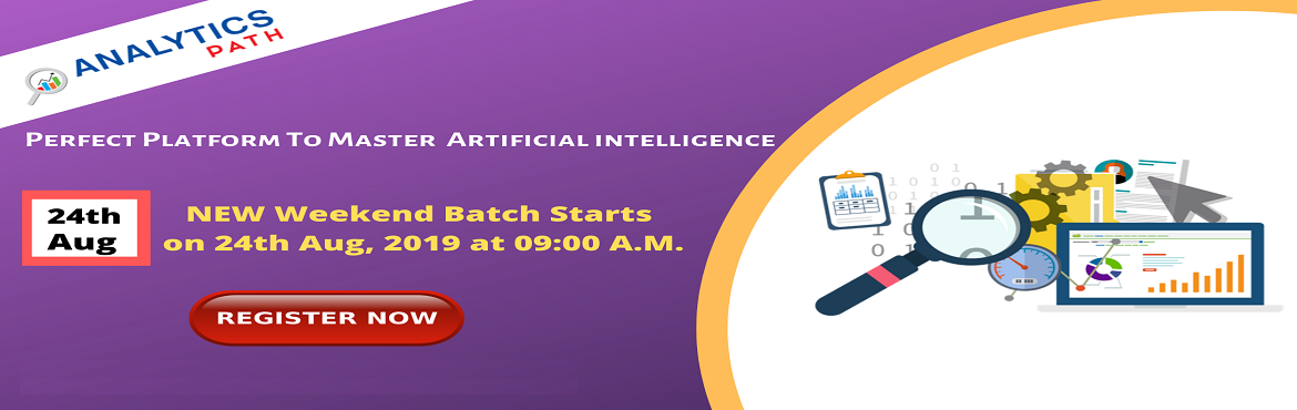 Book Online Tickets for Get Registered For Artificial Intelligen, Hyderabad. Get Registered For Artificial Intelligence Training New Weekend Batch IIT & IIM, By Analytics Path Scheduled On 24th August, 9 AM, Hyderabad About The Event- Analytics Path is bringing you the opportunity to interact with the analytics experts in