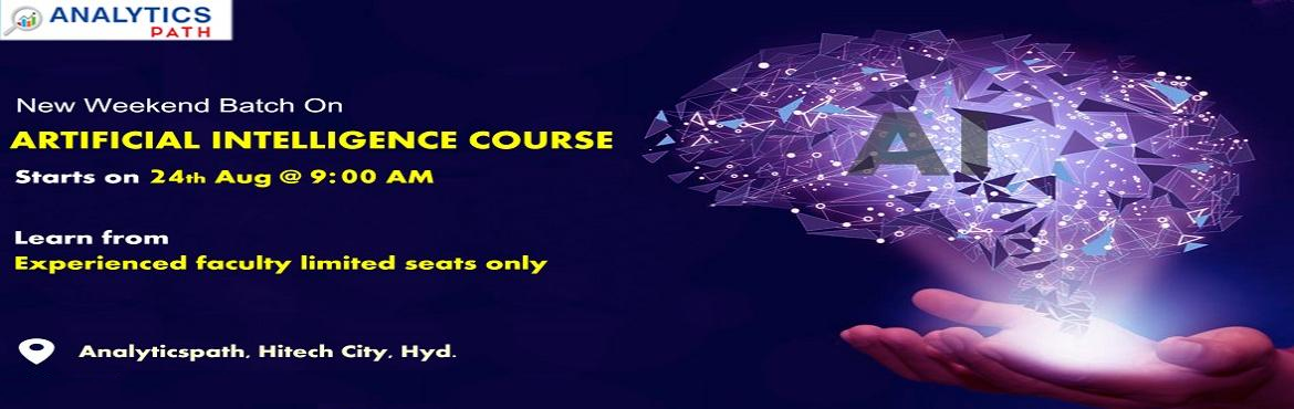 Book Online Tickets for Register For New Weekend Batch On AI-Lea, Hyderabad. Register For New Weekend Batch On AI-Learn From IIT & IIM Experts At Analytics Path Commencing From 24th Aug,9 AM, Hyd About The Event- Are you a career enthusiast aiming to secure a career in the leading analytics technology of Artificial Intell