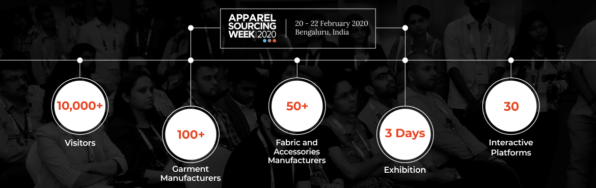 Book Online Tickets for Apparel Sourcing Week 2020, Bengaluru. A platform curated on the three pillars of opportunity, knowledge and inspiration, ASW 2020 invites sourcing specialists from India and around the world, offering them an opportunity to interact with top global garment manufacturers, hand-picked for