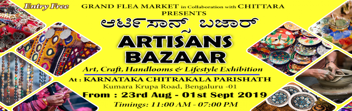 Book Online Tickets for Artisans Bazaar, Bengaluru. Artisans Bazaar - Art, Craft, Handlooms and Lifestyle ExhibitionAn Artisan are the skilled craft worker who makes things by hand that may be functional or decorative.Let\'s join all the Artisan across the country at one place and make a one-sto