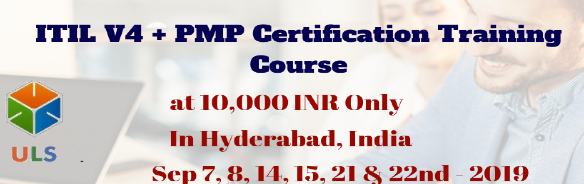 Book Online Tickets for PMP + ITIL V4  Certification Training Co, Hyderabad. Ulearn System\'s OfferPMP + ITIL V4 Foundation Certification Training Course Hyderabad, India. Enroll for interactive PMP Certification Training in Hyderabad, India from Ulearn Systems, Top project Management Training (PMP Training) in Hyderaba