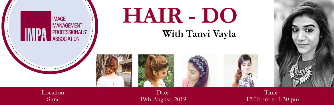 Book Online Tickets for Hair Do With Tanvi Vayla, Surat. ABOUT Tanvi VaylaTanvi is a freelancer hairstylist for past 4 years. She worked for fashion shows like Lakme Fashion Week. Her work has been featured in several newspapers. Tanvi has judged several hairstyle competitions in eminent colleges in Surat.
