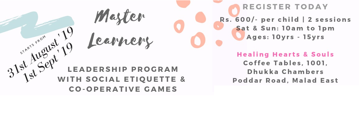 Book Online Tickets for Age 10 to 15? We have Leadership Program, Mumbai. Is your kid age is 10 to 15? Make use of Holidays coming at the end of the month, let your kids make good use of it.  We have performed this event at Various schools with more than 200 students. Topics covered in the program are Social Et