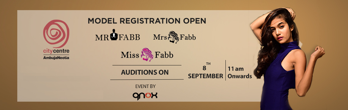 Book Online Tickets for Miss / Mrs / Mr Fabb Raipur Auditions, Raipur. Audition for biggest beauty pageant of Raipur city. Once you are selected in the audition you will go through the training and grooming session which will be held on 13th, 14th, 15th, 19th, 20th,21st September .Fees of Rs 7500 will be applicabl
