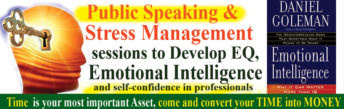 Book Online Tickets for Public Speaking and Stress Management Se, Hyderabad. The program is for professionals and Enterpreneurs to be an effective Communicator and Leader Public speaking is a common source of stress for everyone. Stage fear can be removed through practice and practice.To practice public speaking &