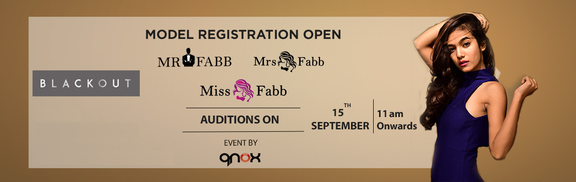 Book Online Tickets for Miss / Mrs / Mr Fabb Jaipur Auditions, Jaipur.  Audition for biggest beauty pageant of Jaipur city. Once you are selected in the audition you will go through the training and grooming session 20th, 21st, 22nd 25th, 26th, 27th September 2019. Fees of Rs 7500 will be applicable for the finalis