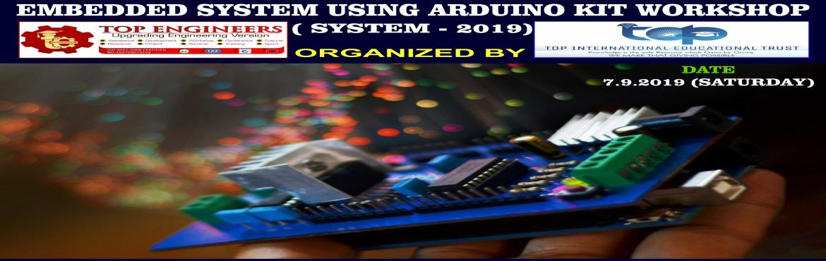 Book Online Tickets for EMBEDDED SYSTEM USING ARDUINO KIT WORKSH, Chennai.     AGENDA   INTRODUCTION EMBEDDED SYSTEM BASIC ELECTRONICS ARDUINO PROGRAMMING DIGITAL INPUTS / OUTPUTS LED BLINKING SWITCH INTERFACING  SERIAL COMMUNICATION ANALOG INPUTS AND OUTPUTS SENSOR INTERFACING LED FADING  RGB LED INTERFACING     Workshop T
