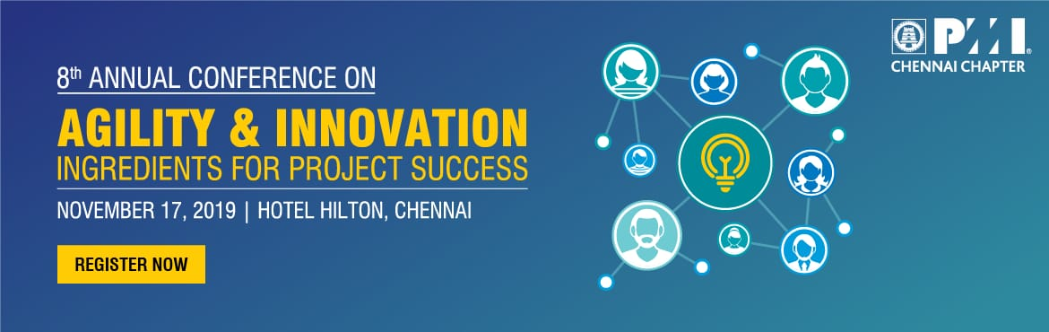 Book Online Tickets for SANGAMAM 19 - TN Project Management Conf, Chennai.  The PMI Chennai Chapter invites you to the largest Project Management Conference, #SANGAMAM19, in TamilNadu. This year marks the EIGHTH edition of our Annual conference, a milestone that we could reach only with your support. The theme for thi