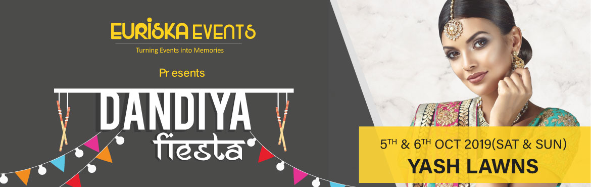 Book Online Tickets for Dandiya Fiesta 2019 (5th 6th Oct) Bigges, Pune. This Navratri be a part of the Biggest & The Most Happening Dandiya Event of Pune - Dandiya Fiesta 2019 at Yash Lawns, Bibvewadi Pune on 5th & 6th of Oct 2019. After leaving 2 benchmarks of successful events in Pune, Euriska Events has brough